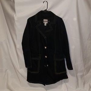 Old Navy topcoat, black size 2x
